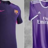 Madrid Dan Barca Kompak Keluarkan Jersey Warna Ungu
