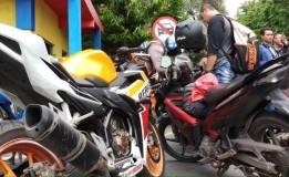 Jelang Tahun Baru Dan Natal Polisi Di Surabaya Razia Motor Berknalpot Brong
