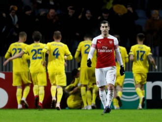 Lacazette Dikartu Merah, Arsenal Kalah 0-1 dari BATE di Leg I Babak 32 Besar Liga Europa